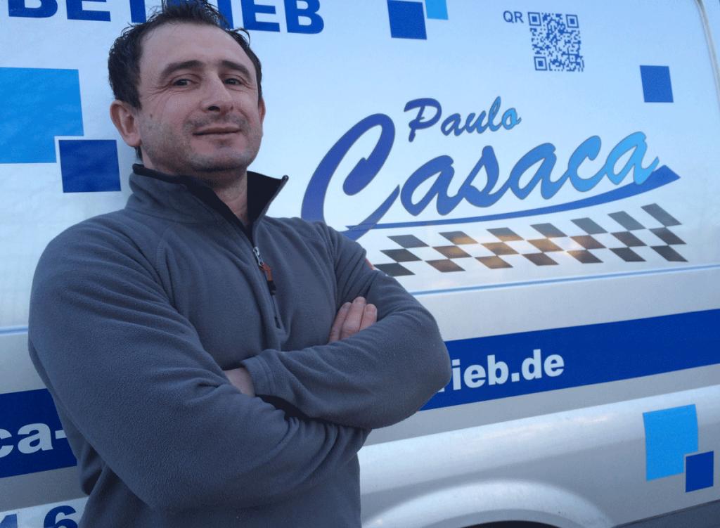 Der Inhaber des Fliesenfachbetriebs Paulo Casaca nimmt sich gerne Zeit für Sie. Rufen Sie uns an oder nutzen Sie unser Kontaktformuar. © Fliesenfachbetrieb Paulo Casaca   fliesencasaca.de